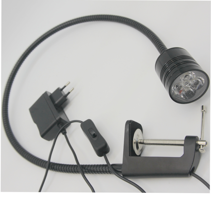 5W Bright Led Flexible Pipe Work Light Clamp To Dental Surgery Light Inspection Light With Plug