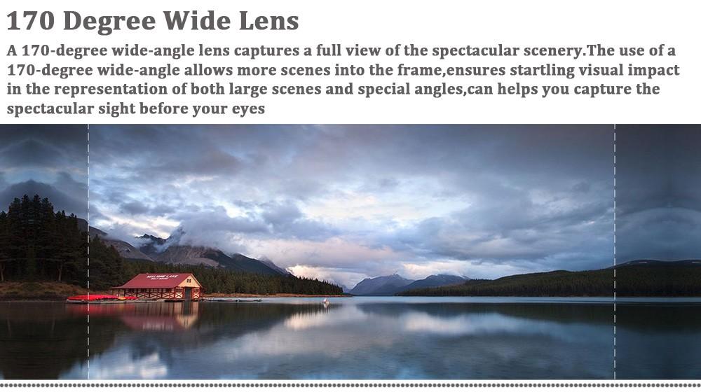 170 degree lens