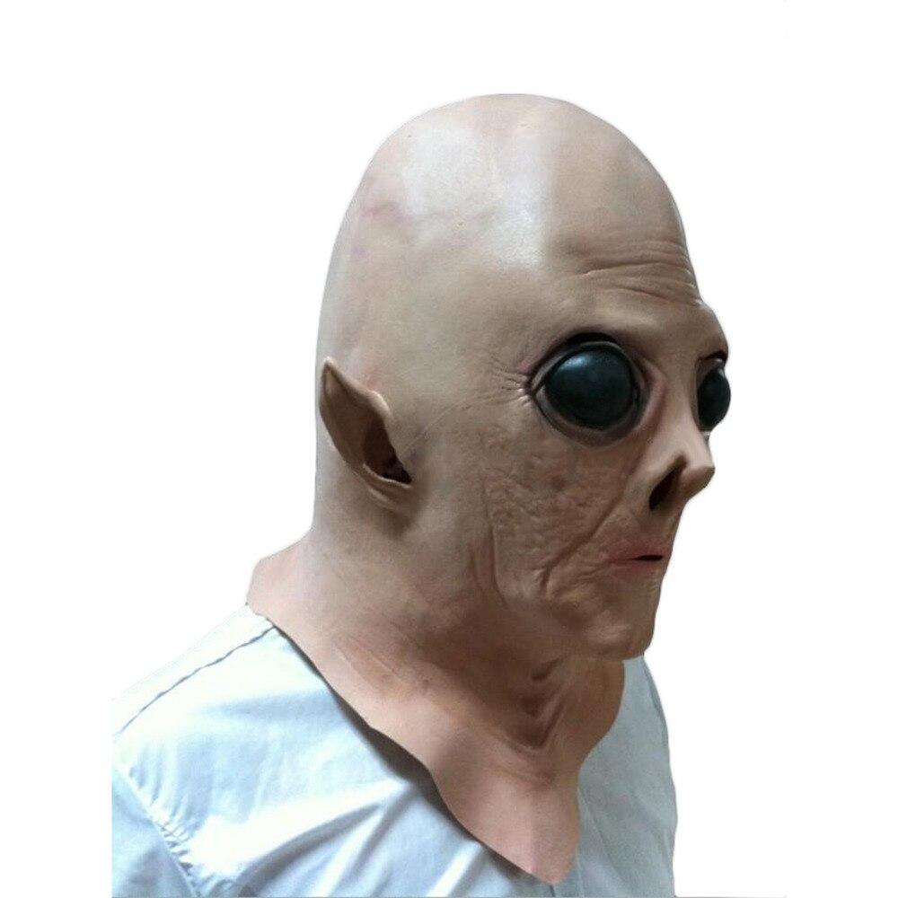 Realistic UFO Alien ET Extra Terrestrial face Halloween full head ...