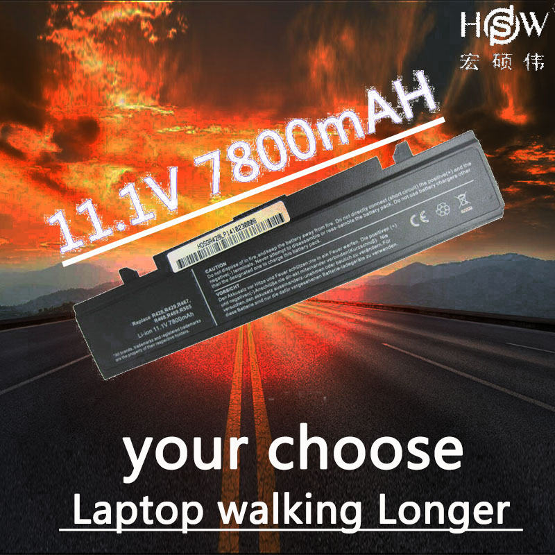 HSW 9cells Laptop Battery For SAMSUNG R580 R540 R530 R429 R520 R428 Battery R522 R528 R425 R525 AA-PB9NC6B AA-PB9NS6B Battery