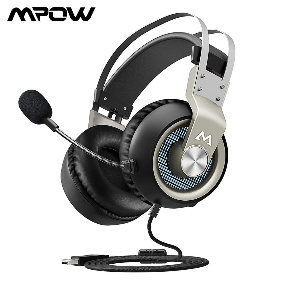 Mpow EG3 Gaming Headset USB Wired Over-ear Cuffie Gaming Con Microfono e  Controllo Del Volume e Paraorecchie Morbidi Per PC PS4 di Gioco per PC eac8f38825d6