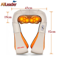 4D Shiatsu Massage Pillow Car Home Dual Use Human Heating Kneading Massage Device Shoulder Neck Leg