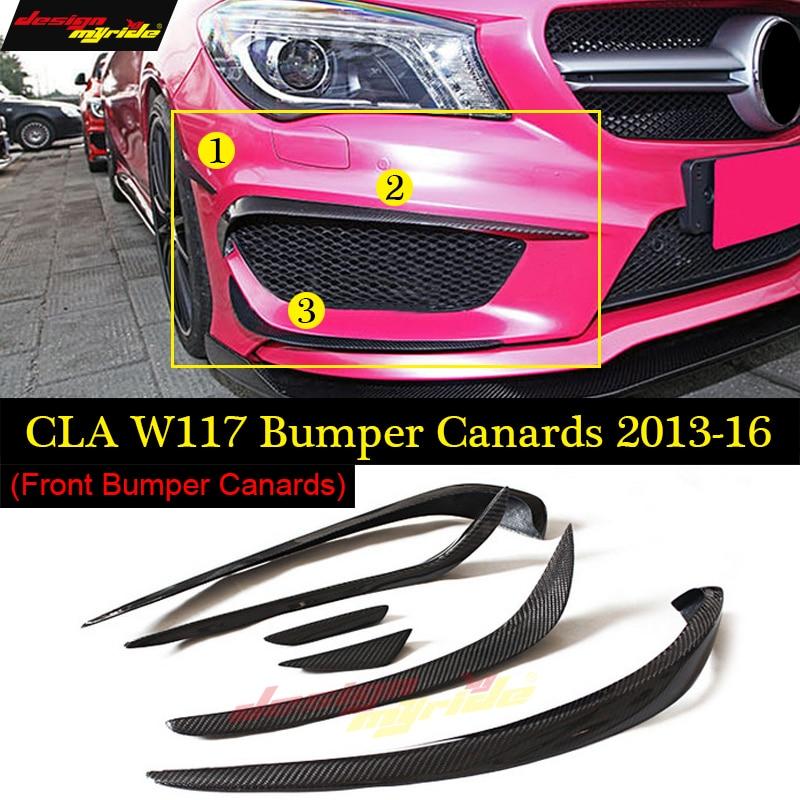 CLA Class W117 Front lip Splitter Flap Canard fits Sports Style Carbon Fiber CLA W117 CLA180