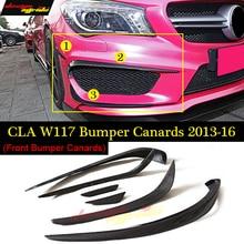 CLA-Class W117 Front lip Splitter Flap Canard fits Sports Style Carbon Fiber CLA-W117 CLA180 CLA200 CLA250 CAL300 CLA45 2013-16