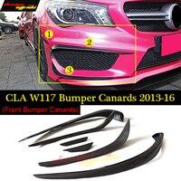 For CLA Class W117 Front lip Splitter Flap Canard fits Sporty Style Carbon Fiber CLA W117 CLA180 CLA200 CLA250 CLA45 AMG 2013 16