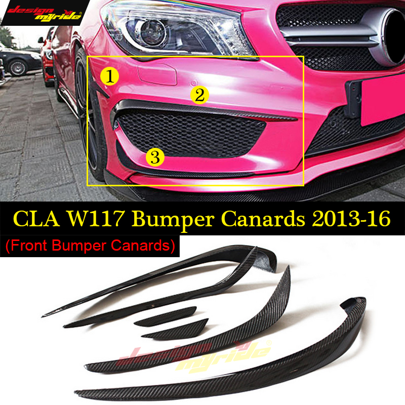 For Mercedes Benz CLA Class W117 CLA180 CLA200 CLA250 CLA45 AMG Carbon Fiber Front lip Splitter Flap Canard fits Sporty Car AMG цена