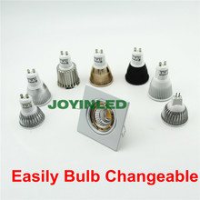 Frost white square fixture holders home LED Spotlight MR16 GU10 led fixture trims Square White/ Golden/Nickel