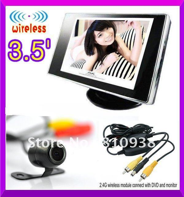 """promotion 3.5 """" Wireless Car rear view camera and monitor system  video parking sensor system car monitor and car rear camera"""