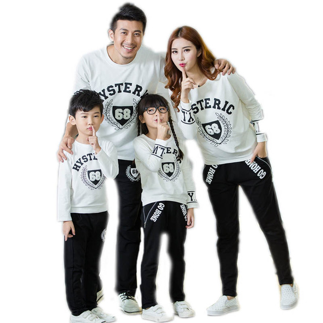 c7069dc27b US $18.49 30% OFF|family matching clothes 2018 active family clothing four  load top fleece +pants family matching shirts family clothing sets-in ...