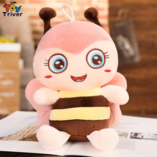 Kawaii Bee Honeybee Apis Stuffed Insect Doll Plush Toy Triver Baby Kids Children Girl Birthday Gift Home Shop Decor DropShipping