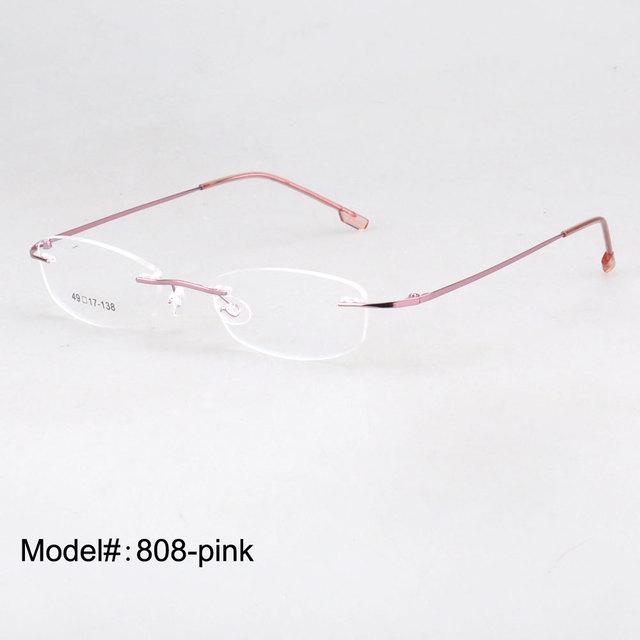 MY DOLI   rimless memory titanium hinged optical  frames eyeglasses spectacles