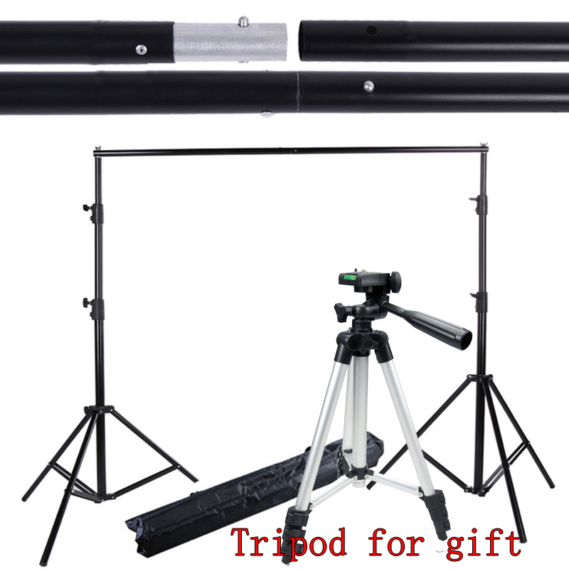 Yuguang 2*2M 6.5FT*6.5FT Photography Background Photo Backdrops Support System Stands studio +carry bag ashanks pro photography studio photo backdrops frame background support system 2m x 2 4m stands for photo shoot carry bag