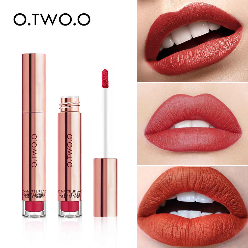 O.TWO.O High Quality Velvet Matte lipstick Long Lasting Lips Makeup Waterproof Liquid Lipgloss Lip stick Pigmented 12 Colors