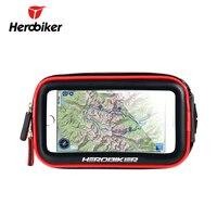 Herobiker Mobile Phone Holder Motorcycle Bike Mount Bracket Stand Holder For Phone Waterproof Case Bag For