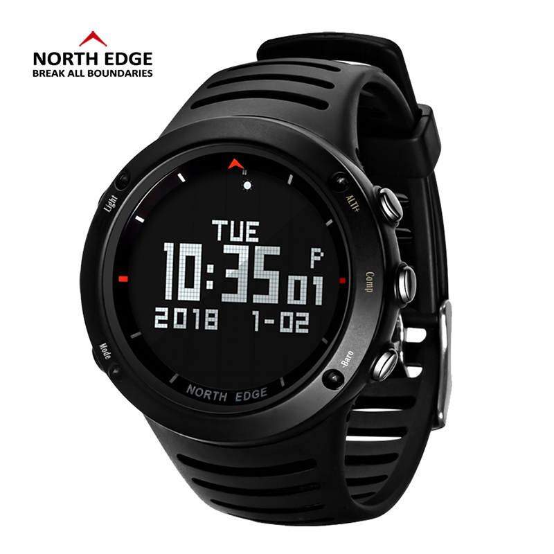 Men Digital Watch LED NORTH EDGE Men Watches Water Resist Clock Sports Military Watches relogio masculino