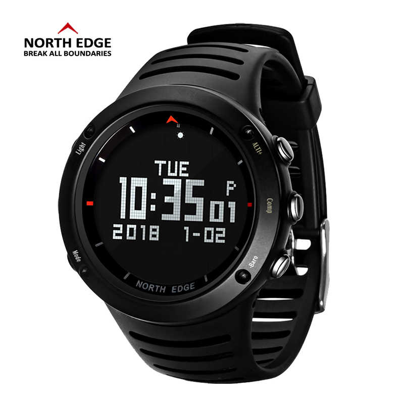 Men Digital Watch LED NORTH EDGE Men Watches Water Resist Clock Sports Military Watches relogio masculino LED Watches Waterproof