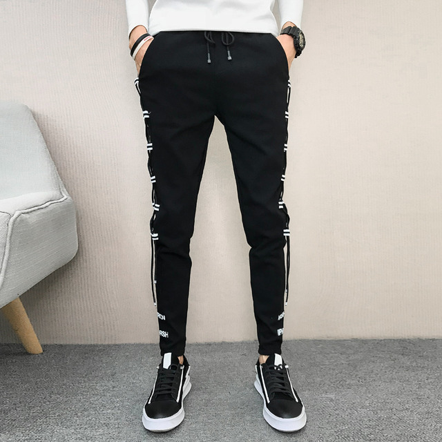 Korean Summer Men Pants Brand New Streetwear Harem Pants Men Slim Fit Hip Hop All Match Casual Trousers Men Clothes 2020 33-28 3