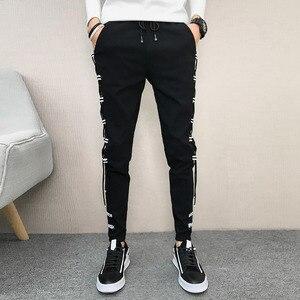 Image 3 - Pantalones coreanos de verano para hombre, ropa nueva de marca, pantalones bombachos, ajustados, Hip Hop, fáciles de combinar, informales, 2020, 33 28