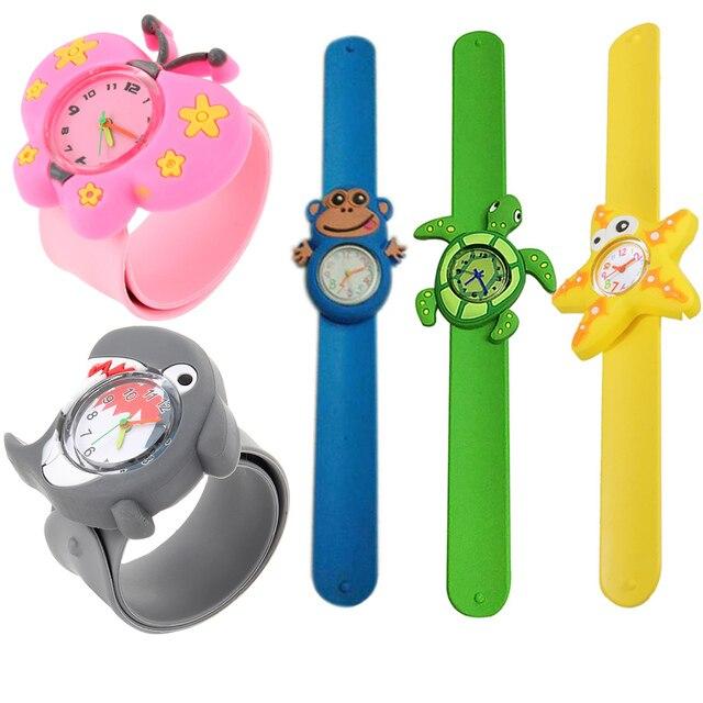3D Cute Adorable Cartoon Student Wristwatch Animal Quartz Silicone Sports Kids W