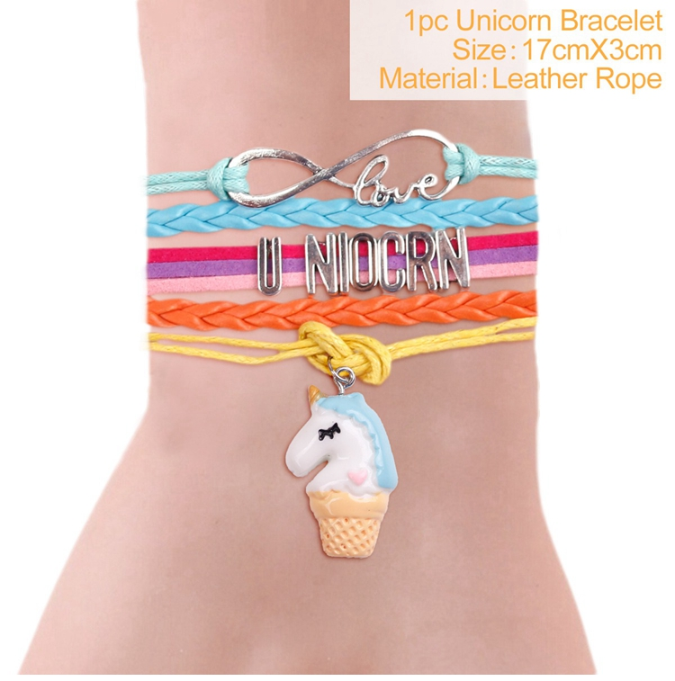 US $1 63 |HUIRAN Alloy Girls Bracelet For Girls Rainbow Unicorn Bracelet  Unicorn Party Favors Charm Unicorn Gifts Birthday Gifts For Girs-in Party