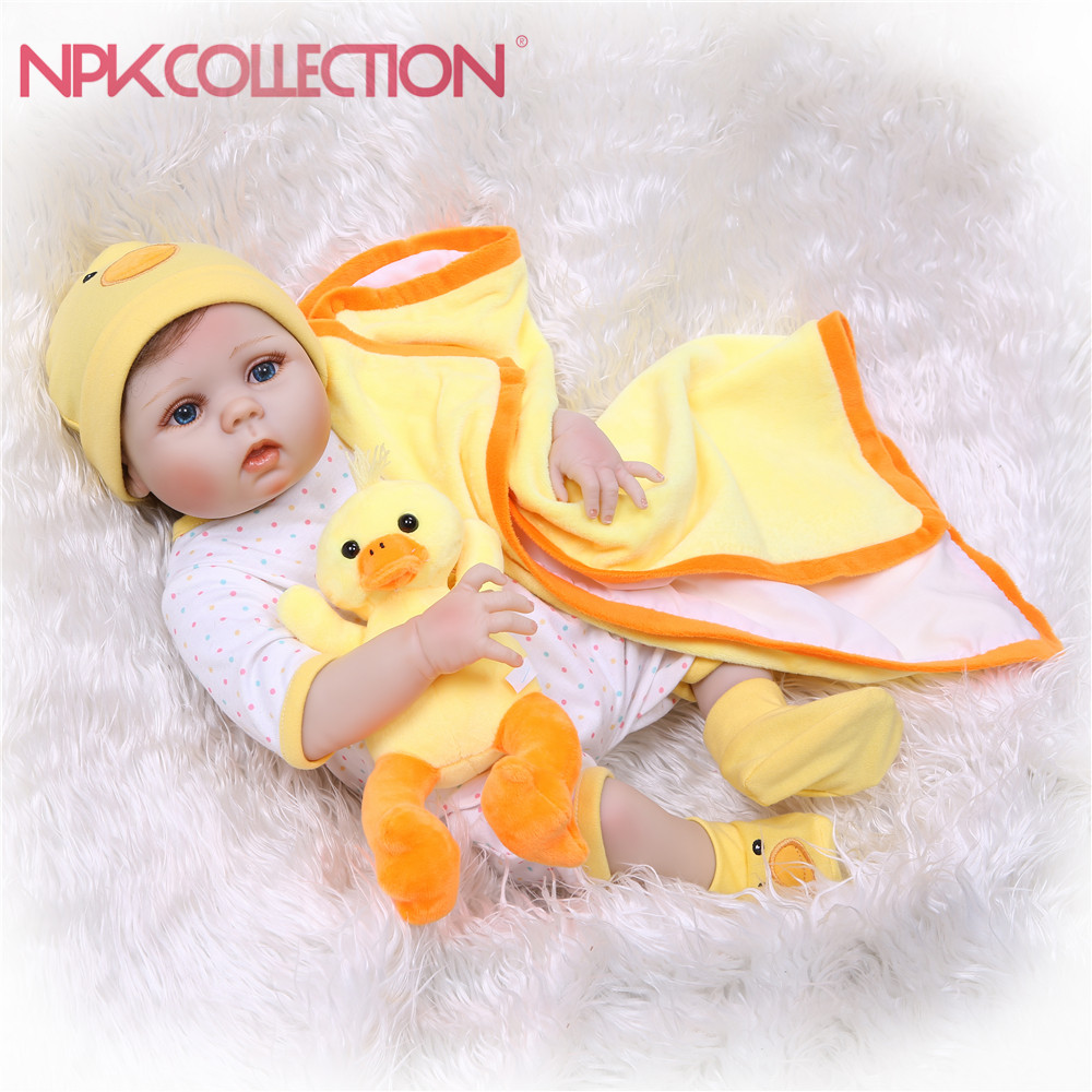NPKCOLLECTION Soft Silicone Reborn Baby Doll Girl Toys Lifelike Babies Boneca Full Vinyl Fashion Dolls For Kids Birthday Gifts new mini 11 reborn dolls babies full silicone vinyl lifelike 27cm newborn doll fashion peanut girl gifts kids baby toys