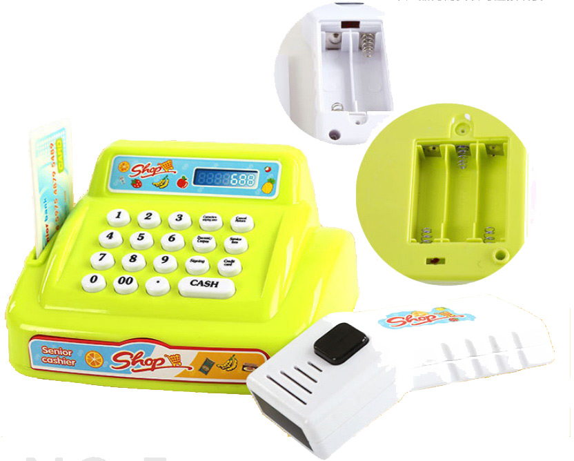 BOHS Children Educational Supermarket Cash Register Boy Girl Cashier Suit Toys
