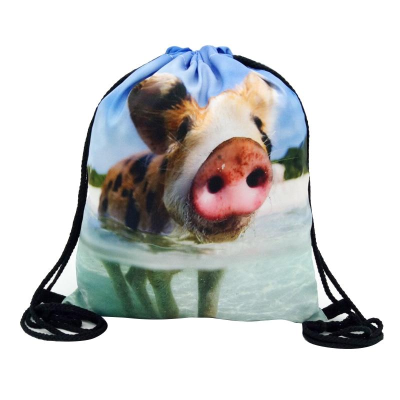 DCOS-Full print Mens Womens Kids bag Teenage Drawstring Bag Shoulder School Backpack Handbag Travel Gym