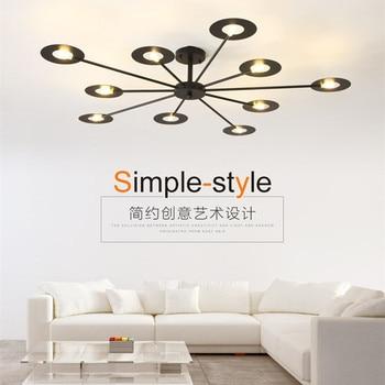 Luces de techo Led de dormitorio de Arte Moderno hojas de árbol creativas luces de estudio de sala de estar de comedor envío gratis