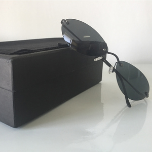 Image 5 - DIDI Mini Senza Montatura Occhiali Da Sole Uomo Classic Matrix Morpheus Ovale Occhiali da sole Donne Steampunk Film Occhiali Ultra Sottile E leggero Telaio U808