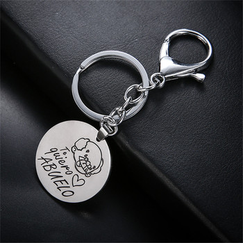 New Fashion lovely Grandmother te quiero love abuelo abuela Grandfather Grandmother Couple Keychain Keyring Gift image