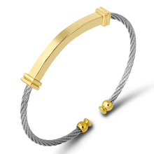 купить Fashion Cable Wire Cuff Bracelet Stainless Steel Black Thin Twisted Link Tag Bracelets For Men Trendy Jewelry Custom Wholesale дешево