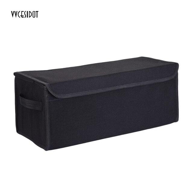 High Quality Car Storage Box Trunk Storage Bag Felt Cloth Collapsible Storage Tool Folding Bag Black Tidy Bag Organizer