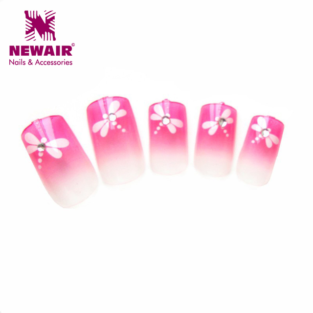 Hot sale fall design newair diamond uv gel nail art tip with dragonfly full  cover nail - Hot Sale Fall Design Newair Diamond Uv Gel Nail Art Tip With