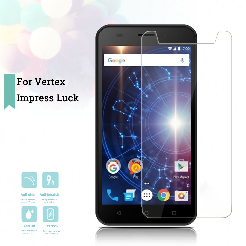 2 5D 0 26mm Ultra Thin Tempered Glass Vertex Impress Luck Toughened Protector Film Protective Screen Case Cover Universal in Phone Screen Protectors from Cellphones Telecommunications
