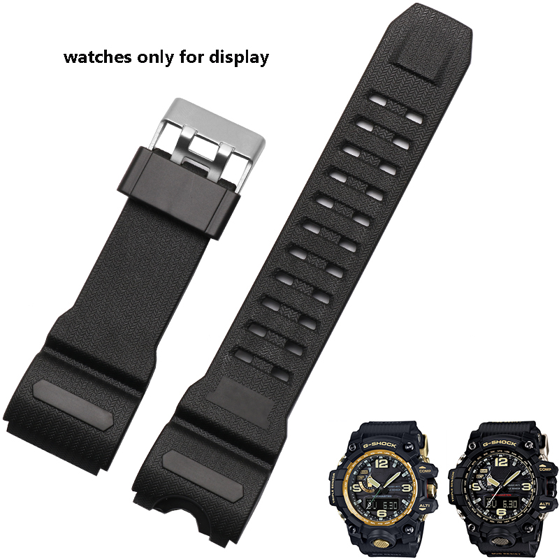 G-shock series replacement silicone strap quality rubber watchband fit GWG-1000GB-1A GWG-1000-1A men's bracelet casio gwg 100 1a