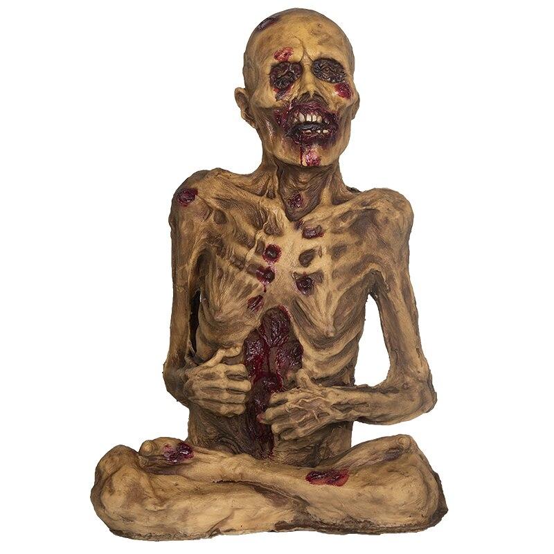 Effrayant Latex Zombie mal séché cadavre effrayant corps et yeux fantôme effrayant fantôme poupées Halloween décor ornements