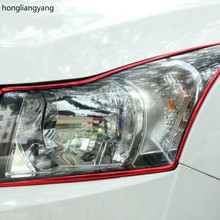 diy universal SUV sedan Hatchback car headlight Tail lights headstock Fog lamp Hub Chrome decoration with Strong glue