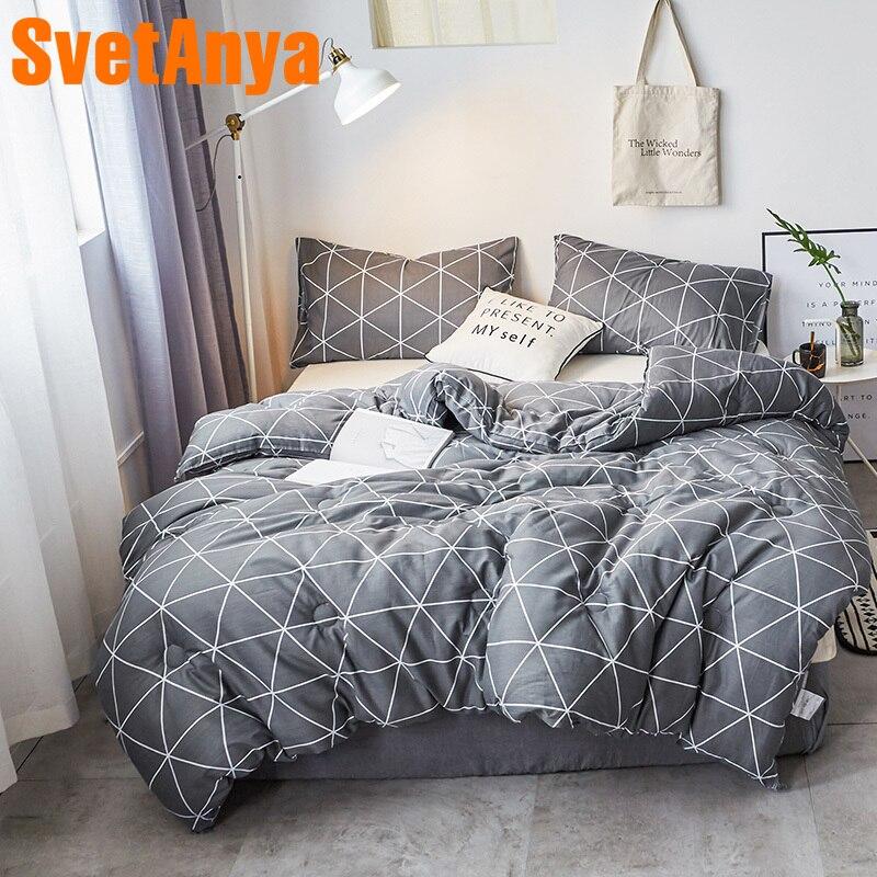 Svetanya Gray Warm Comforter Geometric print Throws Blanket quilted Quilt 150x200cm 180x210cm 200x230cm 220x240cm Plaids