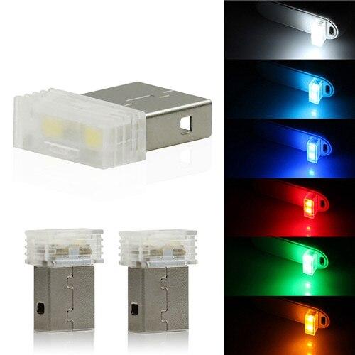 1 шт., миниатюрная светодиодная подсветка для салона автомобиля, красный/синий/белый/зеленый/Кристальный синий/оранжевый