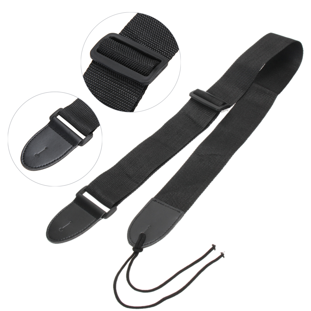 New 1pcs Guitar Strap Acoustic Electric Guitar Bass Nylon Adjustable Belt Guitar Strap Adjustable Length 71-124cm nylon guitar strap adjustable bass acoustic electric guitar strap belt with leather ends