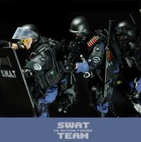 simulation 12 inch super police Action figures 1/6 scale SWAT team with shield Rifle gun suit weapon model doll ltoys