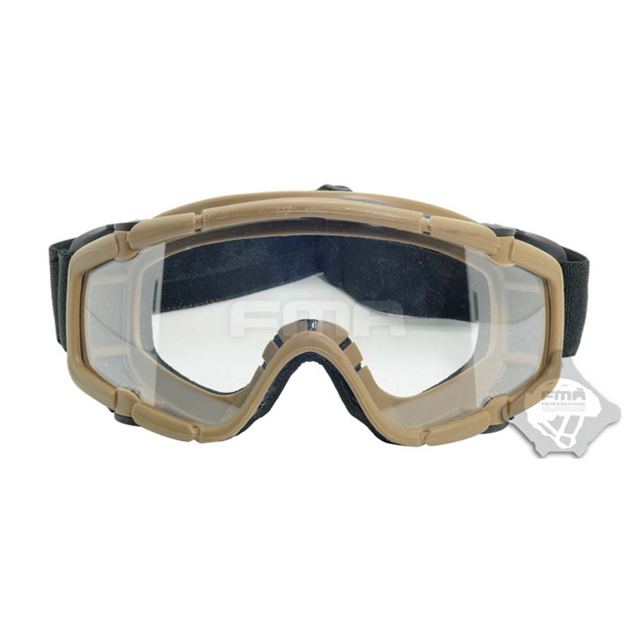 Dark Earth Skiing Sports & Paintball Airsoft Glasses anti fog Ballistic Goggles