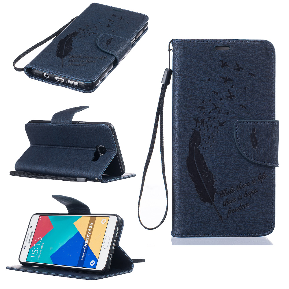 Pu leather case for samsung galaxy a7 2016 a710 peacock feather - Pu Leather Case For Samsung Galaxy A7 2016 A710 Peacock Feather For Samsung A5 2016