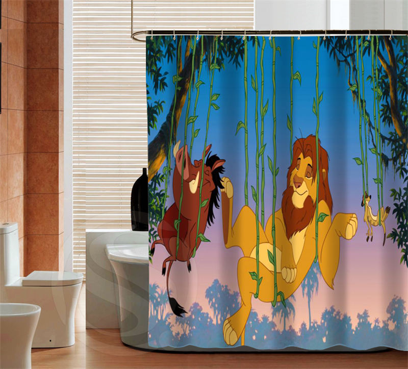 Aliexpress com   Buy Classic cartoon The Lion King latest custom Shower  Curtain Bathroom decor various sizes Free Shipping MORE SIZE SQ0429 ZHH  from. Aliexpress com   Buy Classic cartoon The Lion King latest custom
