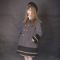 Принцесса сладкий Лолита пальто Dolly Делли заклинание цвет кружева пальто с мехом dolley 0013 2