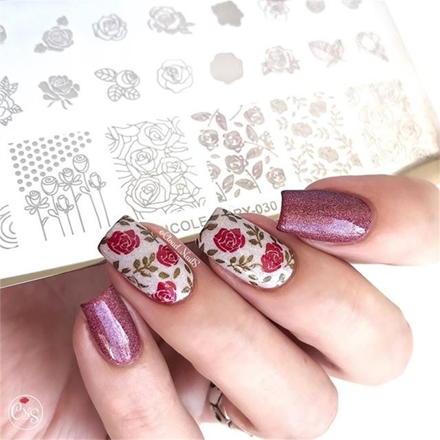 NICOLE DIARY Lace Flower Animal Nail Stamping Plates Marble Image Stamp Templates Geometric  Printing Stencil Tools 1
