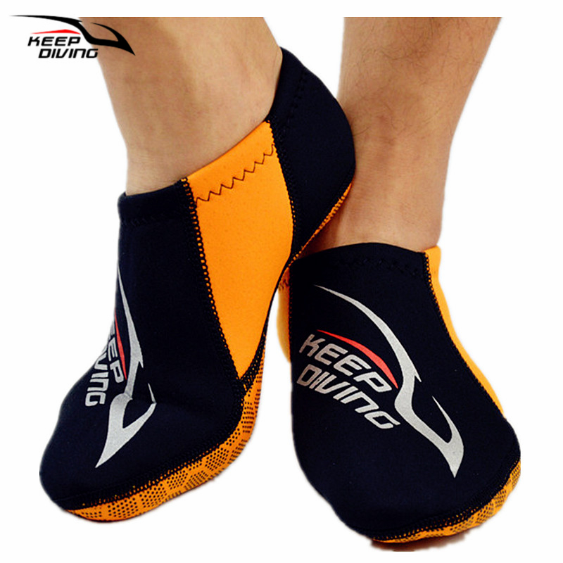Fins Snorkeling-Equipment Neoprene-Socks Swimming-Shoes DIVING Beach Black 3MM S488 Colorful