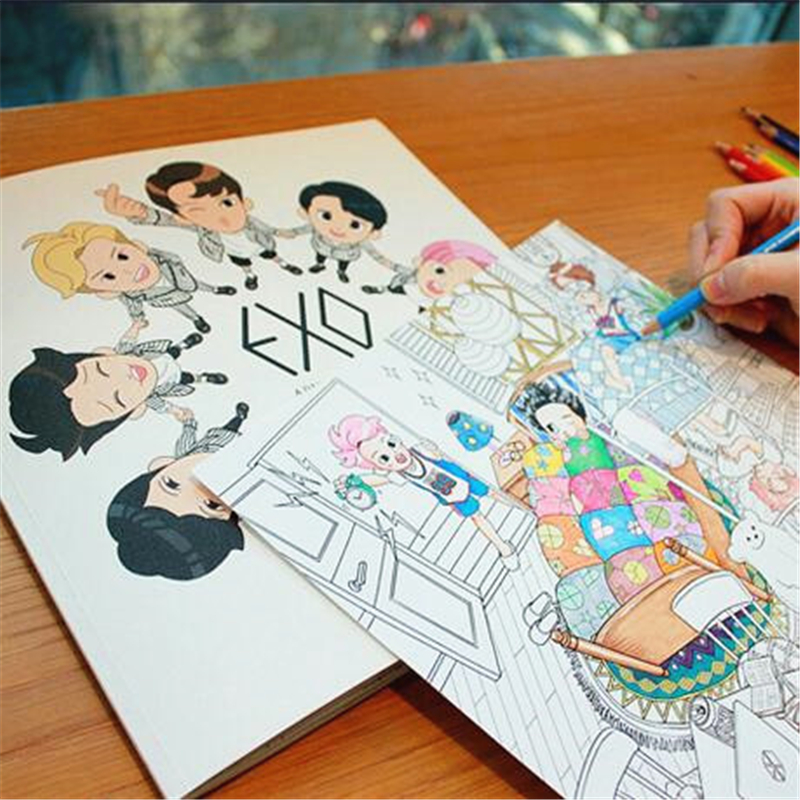Bts Kpop Coloring Pages 761x1024
