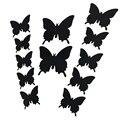 3D tridimensional pegatinas de pared de la mariposa etiqueta de la pared de la boda apoyos de la fotografía 12 traje de la decoración del hogar