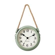 Hemp Rope Retro Clock Wall Modern Decoration 3d Children Watch Silent Vintage Industrial Reloj Pared Farmhouse Decor 5K53